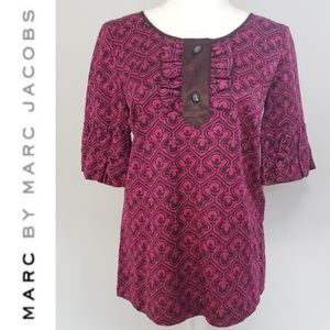 Silky Cotton Printed Blouse